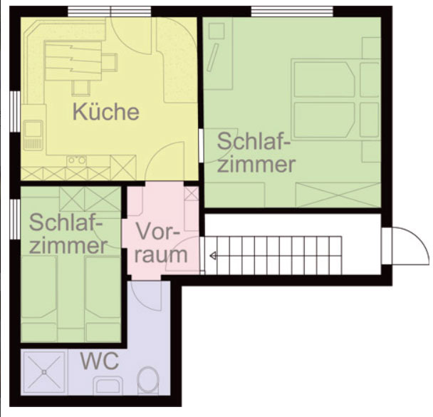 Layout Ground Floor Apartment at our Holiday Apartments Martha in Matrei, East Tyrol