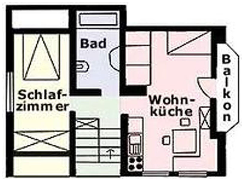 Layout Top-Floor Apartment at the Apartments Martha in Matrei in East Tyrol